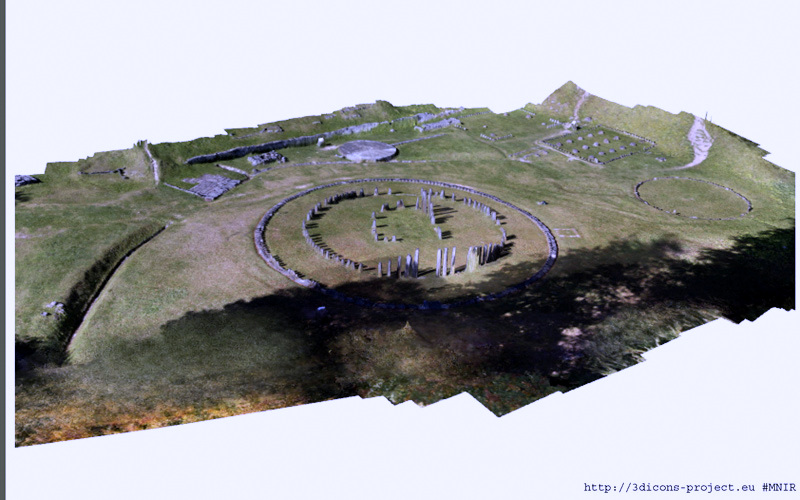 3D model of Sarmizegetusa - Sacred area