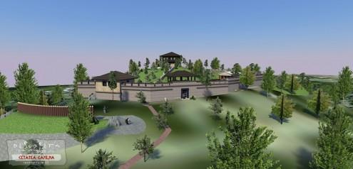 Cetatea Capilna, reconstituire 3D