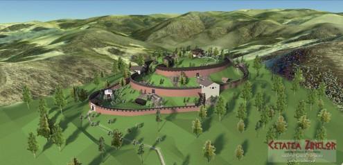 Cetatea Zînelor, reconstituire 3D v.1