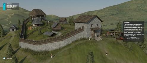 Cetatuia Ardeu, reconstituire 3D v.1