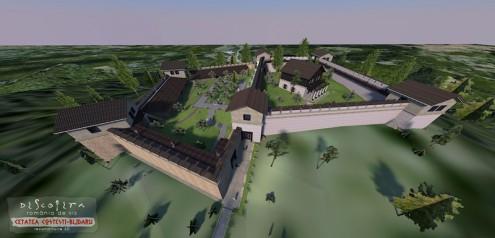 Cetatea Costesti - Blidaru, reconstituire 3D