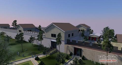 Cetatea Piatra Rosie, reconstituire 3D