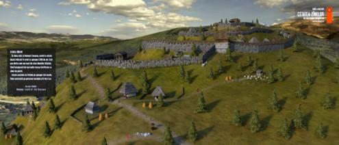 Cetatea Zînelor, reconstituire 3D v.2