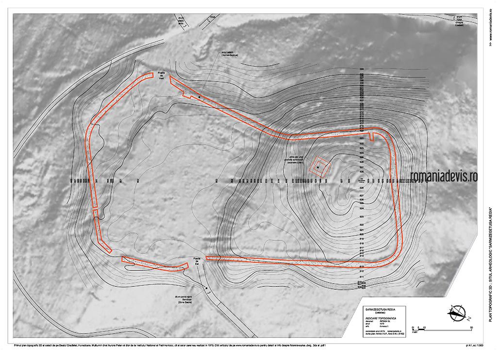 plan topo 3D - suprapunere poza Lidar