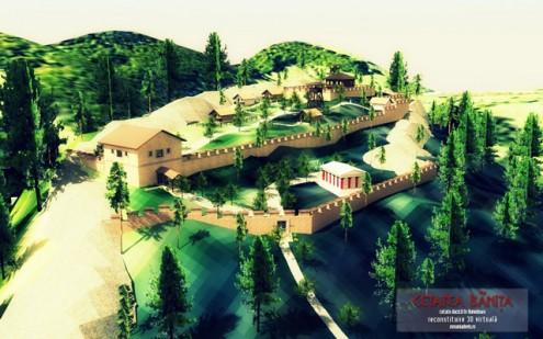 Cetatea Banita, reconstituire 3D