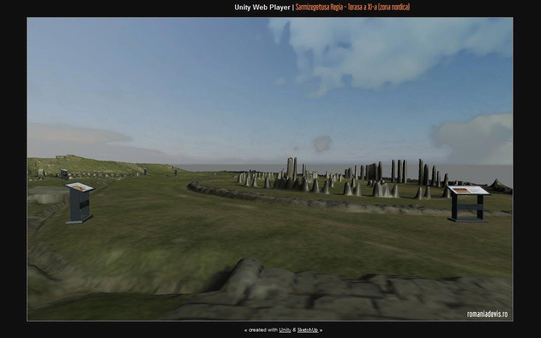 Sarmizegetusa Regia 3D - Zona Sacra - Plimbare virtuala pe Terasa a XI-a