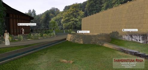 Soarele de andezit, Sarmizegetusa Regia - reconstituire 3D (ipotetica)